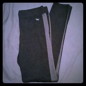 PINK Two-Tone Grey Leggings